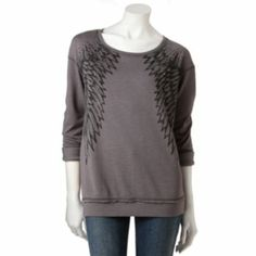 7ef1b2296959e Rock   Republic® Wing French Terry Sweatshirt - Women s