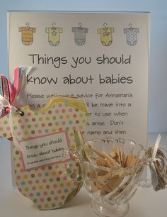 Baby Shower Game - Things You Should Know About Babies - Baby Boy or Girl Onesie Scrapbook.
