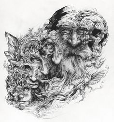 ilustraciones monocromáticas