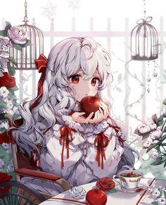 Táo đỏ 🍎 Manga Kawaii, Manga Anime Girl, Anime Girl Drawings, Kawaii Anime Girl, Anime Artwork, Manga Art, Anime Girls, Pretty Anime Girl, Beautiful Anime Girl