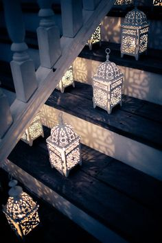 : Decorative Lanterns for Evening Wedding Reception :