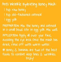 Anti Wrinkly Hydrating Honey Mask #diybeauty