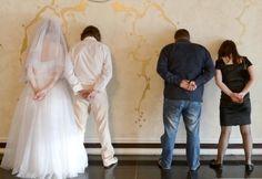 Orribili foto matrimonio.