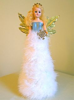 Vintage Angel Tree Topper or Mantle Decor by AquaMarineQueen, $35.00