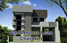 bank-house-loan-checklist Banks House, Shelter, Finance, Construction, Lettering, Business, Cover, Tips, Building