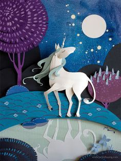 2016/12/04 Unicorn - brittney lee paper art - Google Search