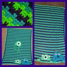 Monsters Inc theme baby blanket