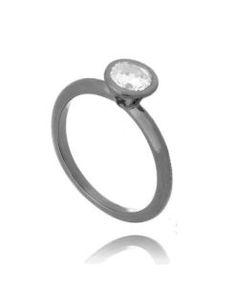 anel moda rodio negro semi joia