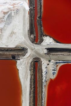 Intersection, 2014 - Salt series - aerial shots by Tommy Clarke.