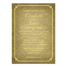 See MoreGold Damask Vintage Chalkboard Wedding Invitations Custom Announcementwe are given they also recommend where is the best to buy