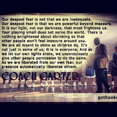 Deepest Fear Coach Carter Quote