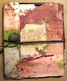 Handmade Journal by APaperBear  Artwork by © Rachel Urista 2010