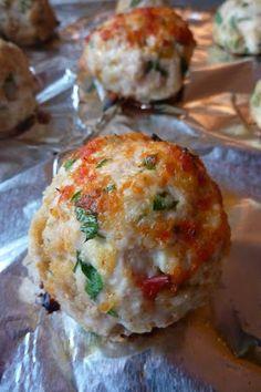 Chicken Parm Meatballs......I'm gonna substitute ground meat or ground turkey....