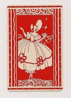 Swap Playing Cards 1 Single Crinoline Lady Red | eBay