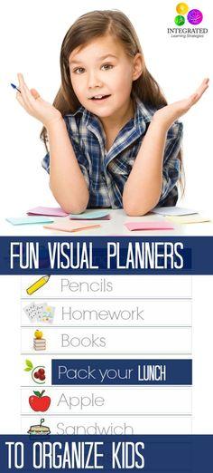 3 Smart Visual Planning Charts for Unorganized Kids   ilslearningcorner.com #backtoschool