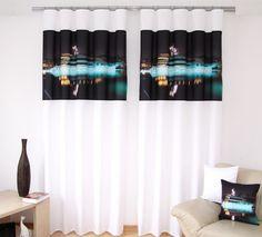 Čierno biely záves biela loď Curtains, Shower, Home Decor, Rain Shower Heads, Blinds, Decoration Home, Room Decor, Showers, Draping
