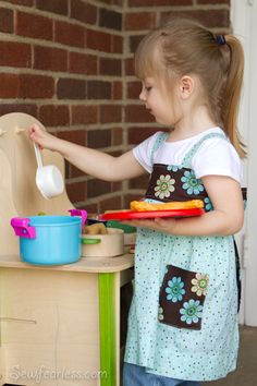 2T - 5T Smock Apron #tutorial #sewing