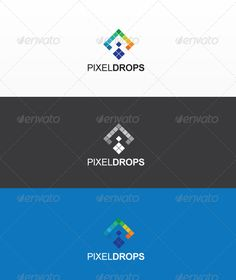 Pixel drops - Logo Design Template Vector #logotype Download it here: http://graphicriver.net/item/pixel-drops/2396542?s_rank=1477?ref=nexion
