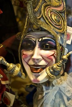 Mask of Venice by Corazonde Dios Mardi Gras Carnival, Venetian Carnival Masks, Carnival Of Venice, Venice Mask, Carnival Costumes, Court Jester, Images, Fantasy, Clowns