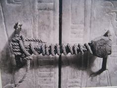 The seal on King Tutankhamun's tomb, 1922, untouched for 3,245 years.