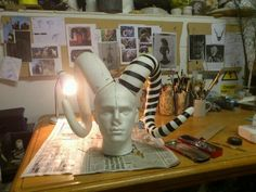 Wonderful millinery tutorial on how to make curled horned hat. by Claire Strickland.