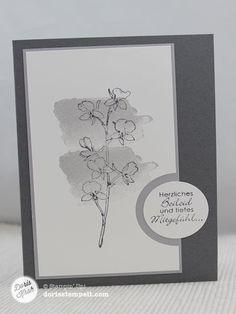 Trauerkarte mit Aquarell-Hintergrund