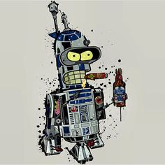 Pabst Blue Robot #PBR #bender #R2D2 : @nerds.r.us  Submit your @pbr_art at PBRart.com