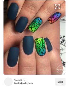 Nail Art Designs 💅 - Cute nails, Nail art designs and Pretty nails. Nail Art Design Gallery, Best Nail Art Designs, Cute Nail Art, Cute Nails, Nagellack Design, Easy Nails, Creative Nails, Gorgeous Nails, Amazing Nails