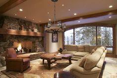 narrow beam overhead ceiling recessed halogen lights create pools of light on the floor