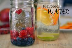 Fruit Flavored Water // Agua Saborizada