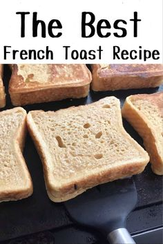 The perfect french toast recipe that is easy to make and cooks perfectly every time Crisp and crunchy on the outside and soft on the inside Awesome French Toast Recipe, Perfect French Toast, Breakfast Items, Breakfast Dishes, Breakfast Recipes, Thanksgiving, Brunch Recipes, Cooking Recipes, Bread Recipes