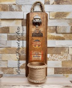 Beer Caddy, Recycled Wood, Wood Signs, Bottle Opener, Barware, Diy, Woodworking, Design, Home Decor