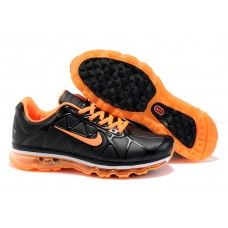 hommes nike air max 2011 leather noir orange 8898