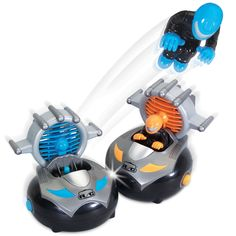 The Driver Ejecting Bumpercrafts - These are the remote controlled bumpercrafts that pit two players in a duel to literally unseat an opponent driver.
