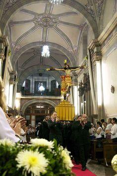 Señor de la Misericordia Tepatitlán. Fiestas 2015. Entrada del Señor a la parroquia de San francisco.