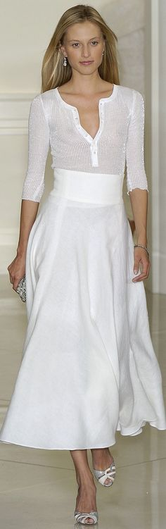 Ralph Lauren. White outfit | Fashion Casual | Rosamaria G Frangini
