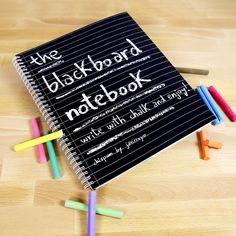 ¡El primer y único cuaderno de pizarra del mundo! ::: The one and only Blackboard Notebook in the world!
