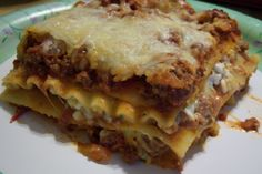 My familys favorite. This is a very meaty lasagna. We prefer it with cottage cheese, but you can easily substitute ricotta.