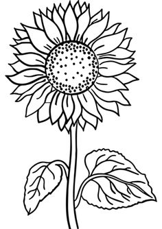 Sunflower Coloring Page Free Halloween Coloring Pages, Free Adult Coloring Pages, Free Printable Coloring Pages, Free Coloring, Sunflower Coloring Pages, Horse Coloring Pages, Coloring Books, Coloring Worksheets, Geometric Coloring Pages