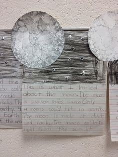 Moon facts informational writing craftivity.