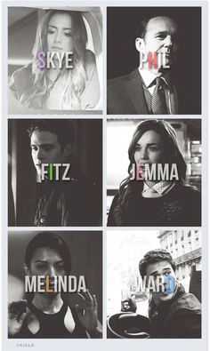 Agents of Skye pHil fItz jEmma meLinda warD WOAH.names spell out shield Iain De Caestecker, Univers Marvel, Dc Movies, Marvel Movies, Stan Lee, Marvel Dc, Le Shield, Series Da Marvel, Ver Series Online Gratis