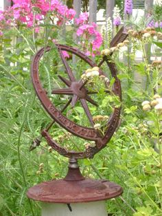 The Sun Dials Helps Keep Track Of The Time When Working In The Garden. Love