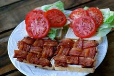 BLT with woven bacon