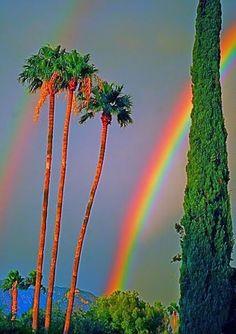 Beautiful Rain Wallpapers for Cool WhatsApp Status and Display Pictures Rainbow Magic, Rainbow Sky, Love Rainbow, Over The Rainbow, Beautiful Sky, Beautiful Landscapes, Beautiful World, Rain Wallpapers, Rainbow Aesthetic