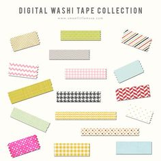 Digital Washi Tape by SweetLittleMuse on @creativemarket