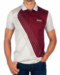 Polo Shirt Outfits, Mens Polo T Shirts, Mens Tees, Sport Shirt Design, Sport T Shirt, Camisa Polo, Types Of Trousers, Hugo Boss Man, Shirt Designs