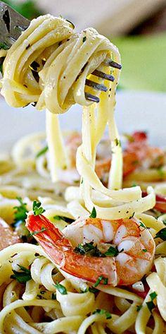 Lemon Pepper Shrimp Linguine ❊