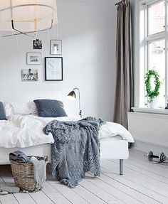 Schon Scandinavian Style White Bedroom With Grey Accents © Alvhem Estate And  Interiors