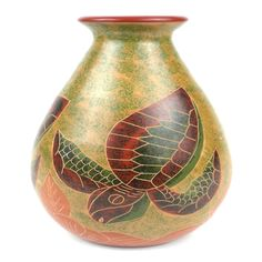 9 inch Tall Vase - Turtle - Esperanza en Accion