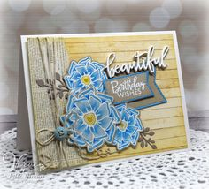 Hand stamped card by Julee Tilman using the Beautiful Things stamp set and coordinating Beautiful Flowers Die Set from Verve. #vervestamps